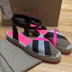Brand New Burberry Espadrille sandals.
